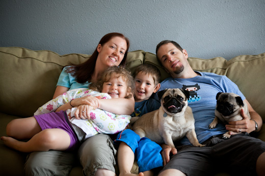 Pug with Family